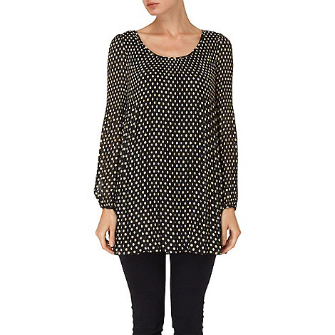 Phase Eight - Black and Camel ella spot pleated tunic