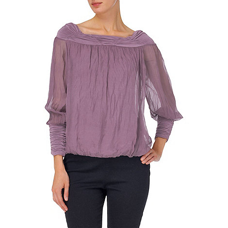 Phase Eight - Dusty Lilac gypsy silk blouse
