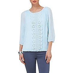 Phase Eight - Pale Blue juliet pleated blouse
