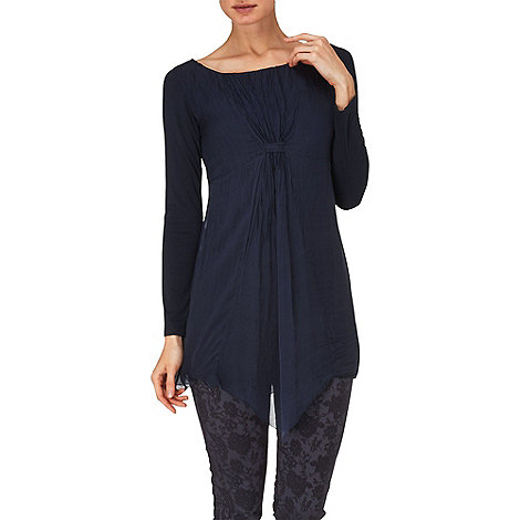 Phase Eight - Navy manuela silk tunic