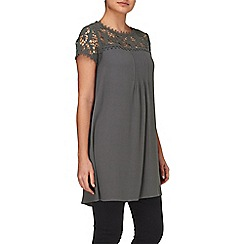 Phase Eight - Charcoal gretchen lace sleeve tunic