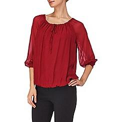 Phase Eight - Rouge carmen silk blouse