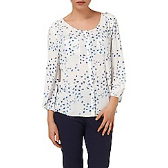 Phase Eight - Ivory and Blue sadie swallow print blouse