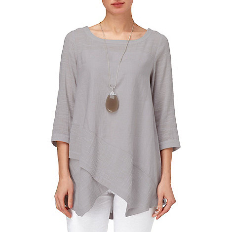 Phase Eight - Silver Grey ava textured linen top