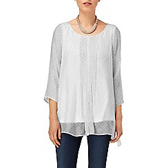Phase Eight - White And Grey ciri silk check blouse