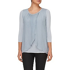 Phase Eight - Pale Blue fliss layered silk blouse
