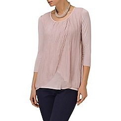 Phase Eight - Pale Pink fliss layered silk blouse