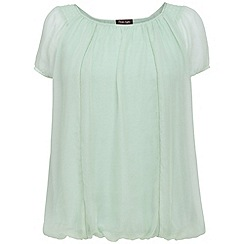 Phase Eight - Cameo Green Kirsten Silk Cap Sleeve Blouse