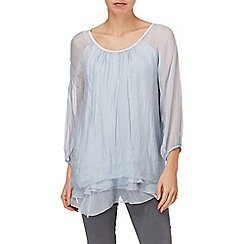 Phase Eight - Pale Blue pietra silk blouse