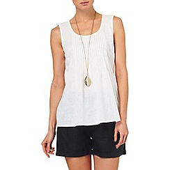 Phase Eight - White mindy pintuck sleeveless linen top