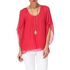Phase Eight - Gerbera petal sleeve blouse