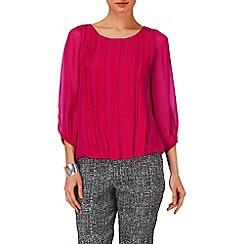 Phase Eight - Raspberry eliza pleated silk blouse