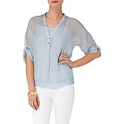 Phase Eight - Ice Blue kay silk shirt