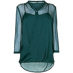 Phase Eight - Pine irene wrap silk top