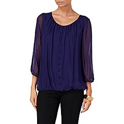Phase Eight - Amethyst cassie button front silk blouse