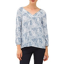 Phase Eight - Grey and Ivory paige print blouse