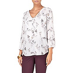 Phase Eight - Ivory and Almond clarrie horse print blouse