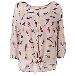 Phase Eight - Ivory and multi-coloured peggy bird blouse