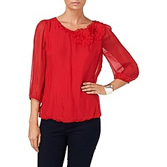 Phase Eight - Cardinal Red rose blouse