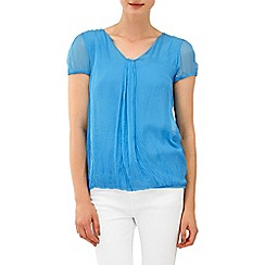 Phase Eight - Azure mila silk cap sleeve blouse