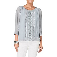 Phase Eight - Silver siobhan pleat blouse