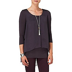 Phase Eight - Charcoal therese silk split back blouse