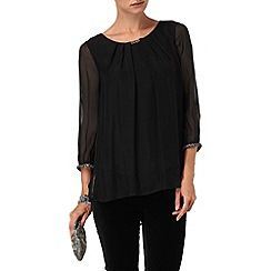 Phase Eight - Black martina silk beaded blouse
