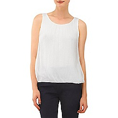 Phase Eight - White lua sleeveless silk blouse