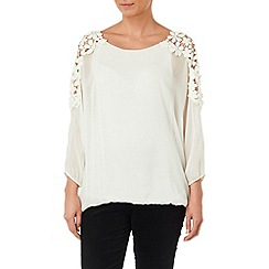 Phase Eight - Ivory louise silk and lace blouse