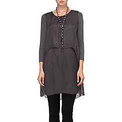 Phase Eight - Charcoal ginette silk tunic