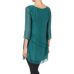 Phase Eight - Forest aveline layered silk tunic