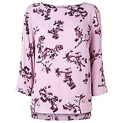 Phase Eight - Mauve neeva floral blouse