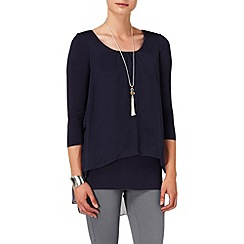Phase Eight - Navy therese split back blouse