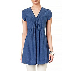 Phase Eight - Denim nala pintuck tunic