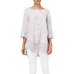 Phase Eight - Aliya linen lace blouse