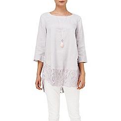 Phase Eight - Aliya linen lace blouse