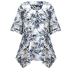 Phase Eight - White palm print oversized blouse