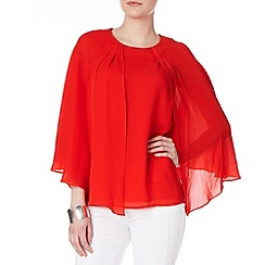 Phase Eight - Tangerine safia layered blouse