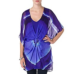 Phase Eight - Blue Multi cuban print silk tunic