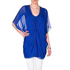 Phase Eight - Cuban knot front silk tunic