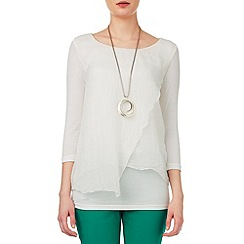 Phase Eight - Miranda silk and jersey blouse