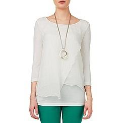 Phase Eight - Miranda silk and jersey blouse