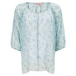 Phase Eight - Mint della bird print button blouse