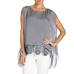 Phase Eight - Cortina lace hem blouse
