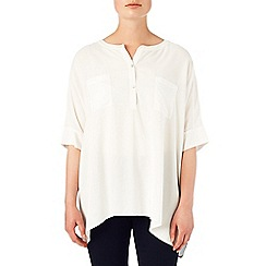 Phase Eight - Ivory jan oversized shirt