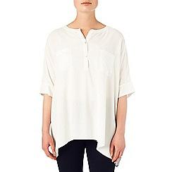 Phase Eight - Ivory jan oversized shirt