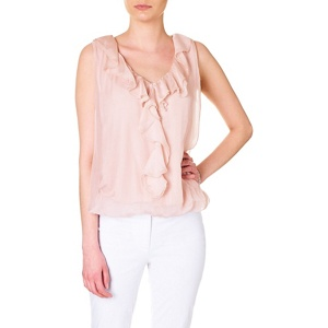 Phase Eight Esta Silk Frill Blouse