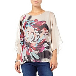 Phase Eight - Dorika placement floral silk blouse