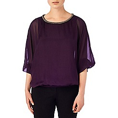 Phase Eight - Jessica beaded neck blouse