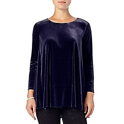 Phase Eight - Midnight delia velvet blouse